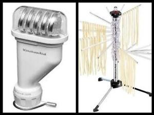 KitchenAid-Pasta-Press-Stand-Mixer-Attachment-KPEXTA-Spaghetti-maker-Steel-Rack