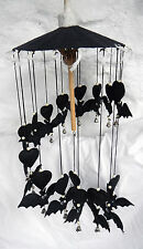 Hand Made Black Bat / Bats Mobile / Windchime - BNIB