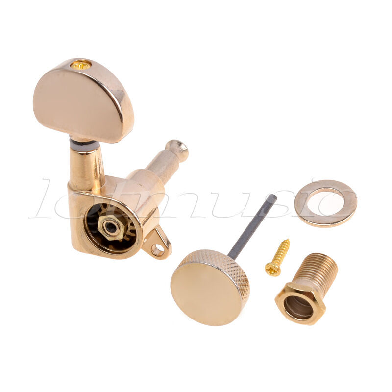 electric acoustic guitar string tuning pegs keys tuners machine heads 3x3 gold ebay. Black Bedroom Furniture Sets. Home Design Ideas
