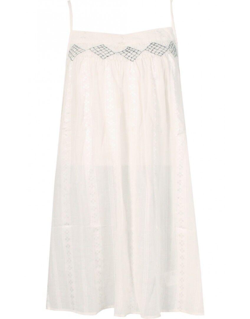 Komodo Faye Hand Woven Organic Cotton Strappy Embroidered Boho Light Dress 12 40