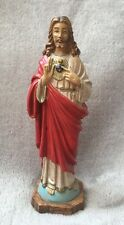 Small Plastic Jesus Sacred Heart Statue Made In Italy