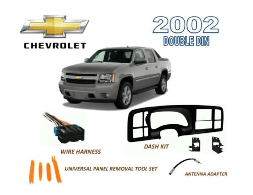 2002 CHEVROLET AVALANCHE Double DIN Dash Install Radio Kit with Wire Harness