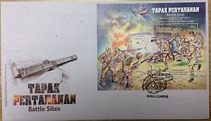 Malaysia FDC with Miniature Sheet (15.09.2016) - Battle Sites