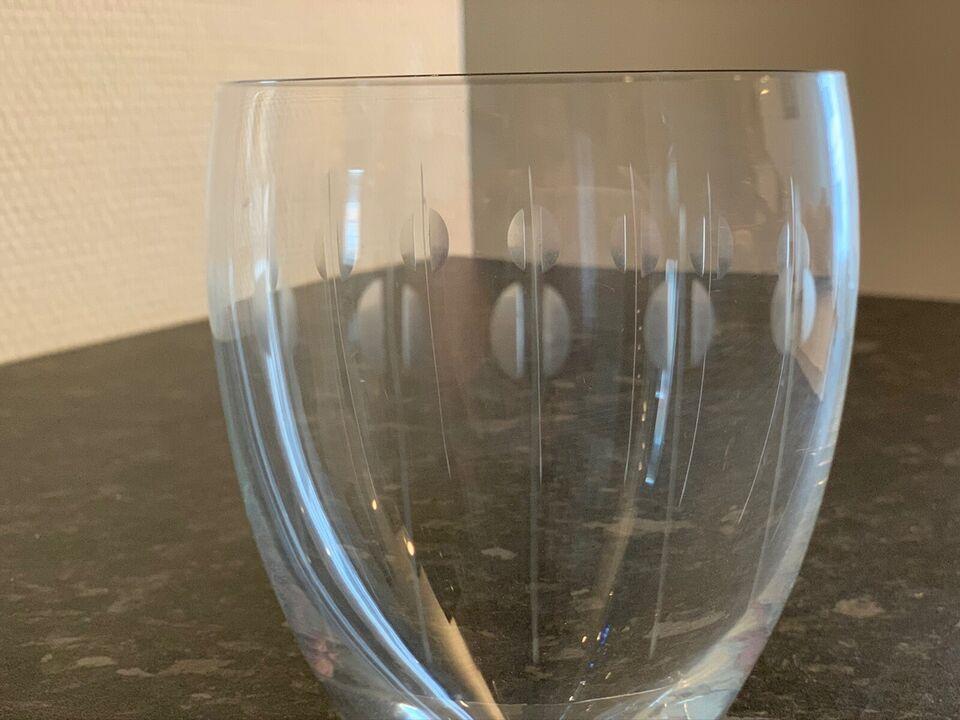 Glas, Holmegaard ølglas med mønster, Holmegaard