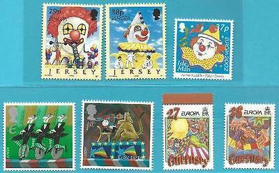 Europa: Zirkus Zahlreich In Vielfalt Großb + Guernsey+ Isle Of Man+ Jersey Aus 2002 ** Postfrisch