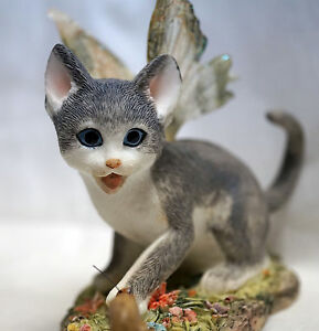 Faery-Glen-CAT-Kitty-SHADOW-Grey-Angel-Fairy-Tail-Series-2-FGC6857-Adorable-NEW