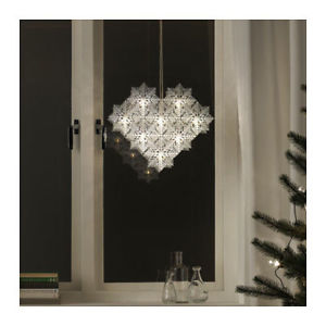 Image Is Loading Ikea Strala Led Pendant Lamp Snowflakes Decoration Christmas