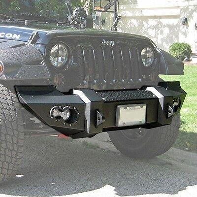Fab Fours Lifestyle Front Winch Bumper w/ Lights Jeep Wrangler JK JK07-B1851-1