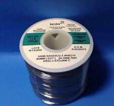 Kester 24 7068 7601 3 Silver Bearing Solder 965 Tin5 Cu 031 No Clean Fx 1lb