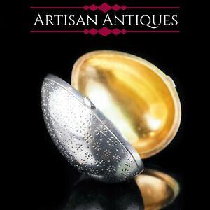 Antique-Imperial-Russian-Silver-Egg-Box-with-Gold-Interior-Ivan-Sveshnikov