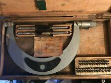 Suhl Screw Thread Pitch Micrometer 175 200mm Gewindemikrometer Anviltip Full