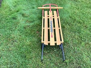 Winter Torpedo Wooden  Sled Canada NEW old stock made in canada **READ