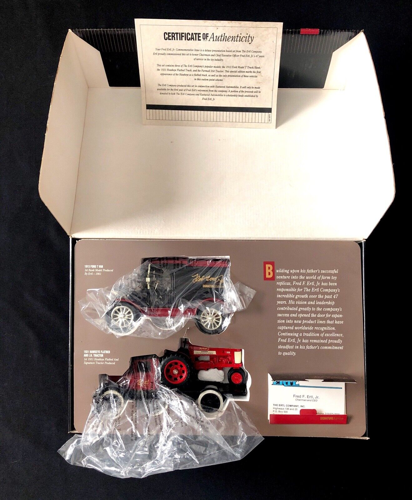 Vintage ERTL Signature Edition Honoring Forty Seven Years Of Leadership. NICE