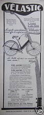 PUBLICITÉ 1927 VELASTIC CYCLE AMORTISSEUR - ADVERTISING