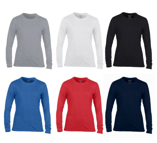 Damen Langarm T-Shirt Performance® Ladies von Gildan 2er Pack Longsleeve rundhal