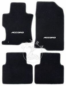 floor mats accord logo fits honda accord sedan 2008 2009 2010 2011 2012 ebay. Black Bedroom Furniture Sets. Home Design Ideas