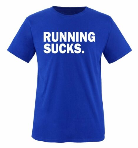Comedy Shirts Herren T-ShirtTier Fitness Body Sport Neu RUNNING SUCKS