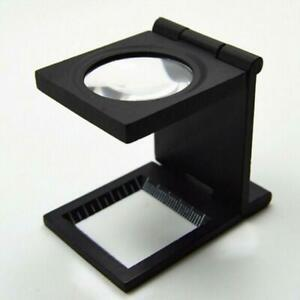 10X-Folding-Magnifier-27mm-Optical-Glass-Loupe-Handsfree-Stamp-Y6Z8-Jeweler-Q0S0