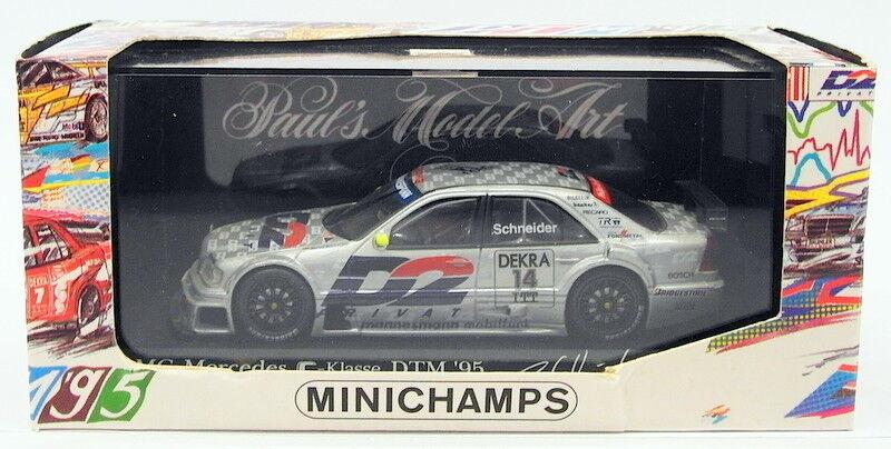 Minichamps 1 43 Scale 430 953514 - Mercedes C-Class 1995 Team AMG - B.Schneider