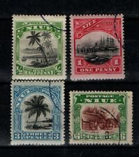 Niue New Zealand 1920 selection to 6d No Wmk SG 38-39, 41-42 VF Used/CTO