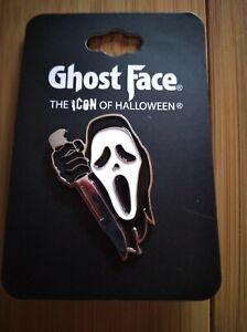 Scream Ghost Face with Knife Enamel Pin