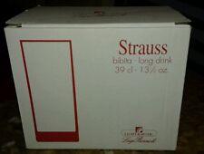 Luigi Bormioli Strauss- Bibita Long Drink 39 cl - 13 1/2 oz. - Set of 6 New.