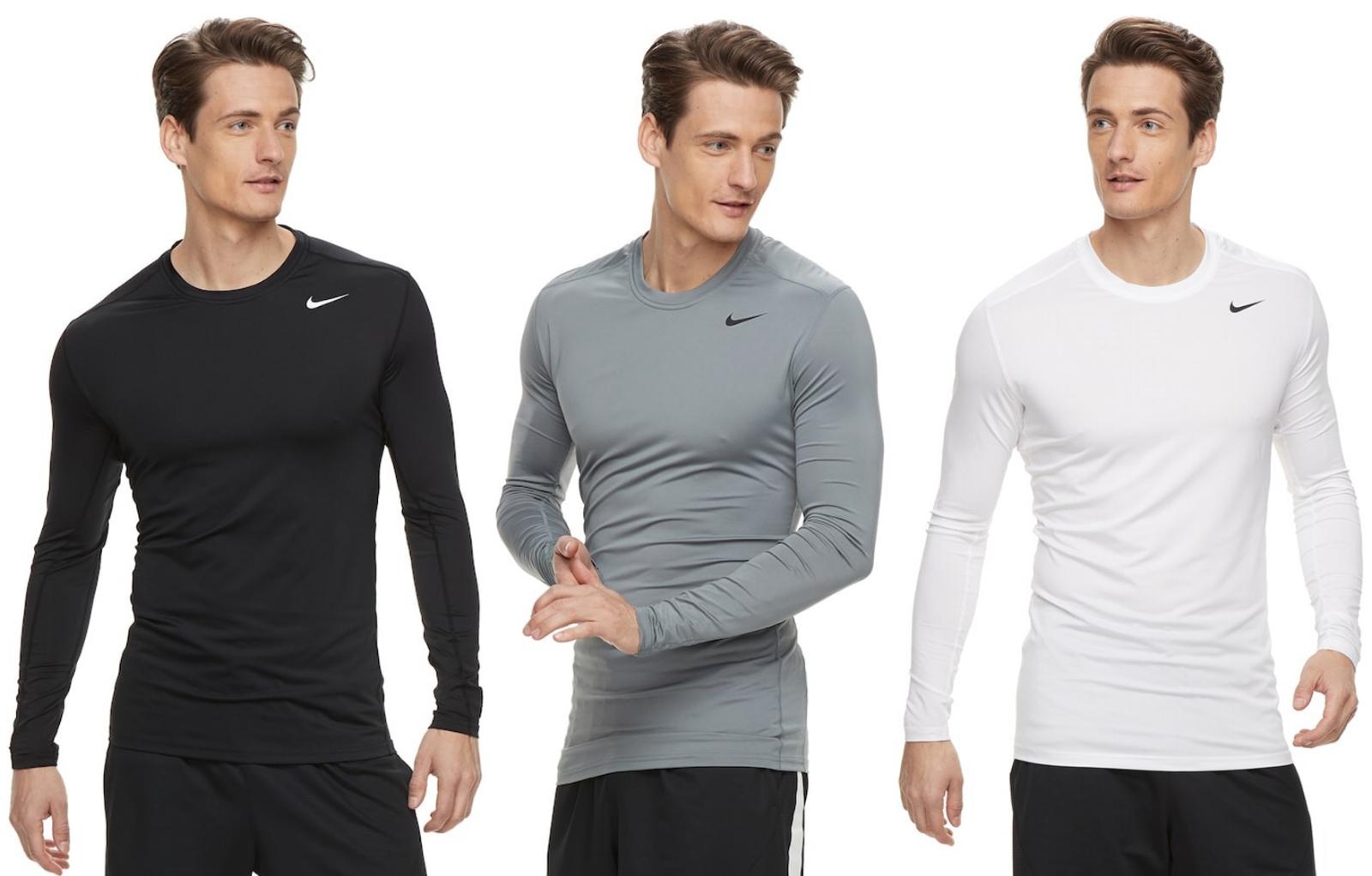 Nike Pro Herren Stretch Sport Fitness Running DRI-FIT Pro Tight Shirt NEU