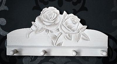 Hakenleiste Garderobe Farbe Antik Weiß Rose Landhaus II Wahl *059