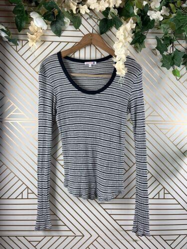 SUNDRY Thermal Long Sleeve Black White Size 1 Ribb