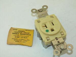 Hubbell-HBL8310I-Hospital-Grade-Single-Receptacle-20a-125v-Surplus