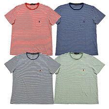 Polo Ralph Lauren Mens T-Shirt Striped Pocket Tee Crew Neck Medium Fit New Nwt