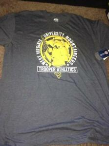 NEW-MENS-STAR-WARS-STORMTROOPER-WVU-WEST-VIRGINIA-MOUNTAINEERS-T-SHIRT-SIZE-XL-L