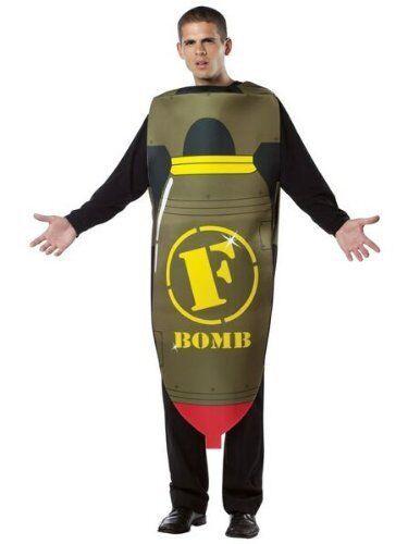 Funny Halloween Costume One Size New Rasta Imposta F Bomb Disguise