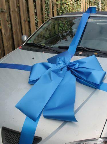 Geschenkschleife Auto blau