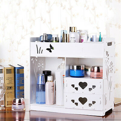 DIY WPC Drawers Storage Box Office Desk Decor Makeup Cosmetic Tidy Organizer