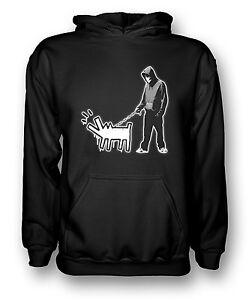 Dog capuche The à Walking DesignSweat Banksy noir mwv8N0nO