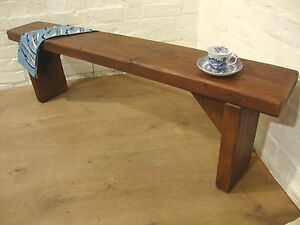 Details About 4ft Teak Handmade Solid Rustic Vintage Reclaimed Pine Dining Table Seating Bench