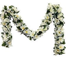 CREAM IVORY DAISIES Chain Garland ~ 5 ft Silk Wedding Flowers Arch Gazebo Decor