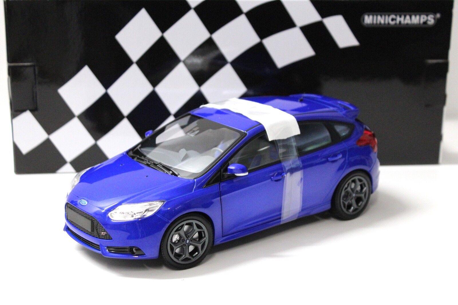 1:18 Minichamps Ford Focus ST 2011 blu NEW in Premium-MODELCARS