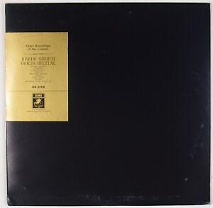 JOSEPH-SZIGETI-Violin-Recital-EMI-ANGEL-Japan-GR-2190-w-Insert-LP-NM