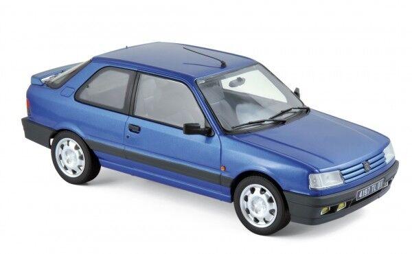 Norev peugeot 309 gti16 1991 miami azul 1 18
