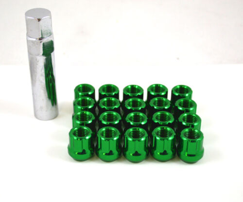 NNR OPEN ENDED LUG NUTS W// KEY GREEN 12x1.5 FOR HONDA//FOR ACURA//MAZDA//FOR TOYOTA