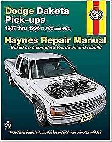 haynes dodge dakota pickup 87 96 le sport slt owners service rh ebay co uk dodge durango owners manual 2017 dodge dakota repair manual pdf