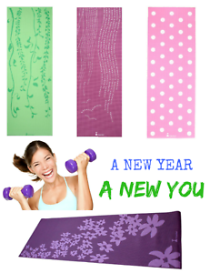"NEW Eco Friendly Thick 24/"" x 68/"" Non-slip Yoga Pilates Fitness Gym Exercise MAT"