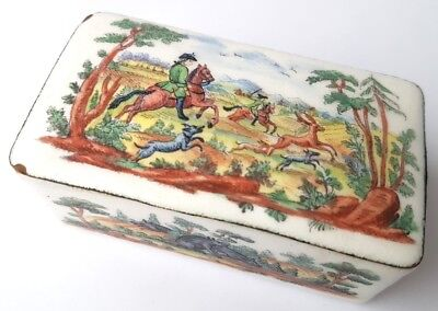 Intellective Rare Casket Enamel Hand Painted France Ca.1780-1790 Al1148 Be Friendly In Use Art