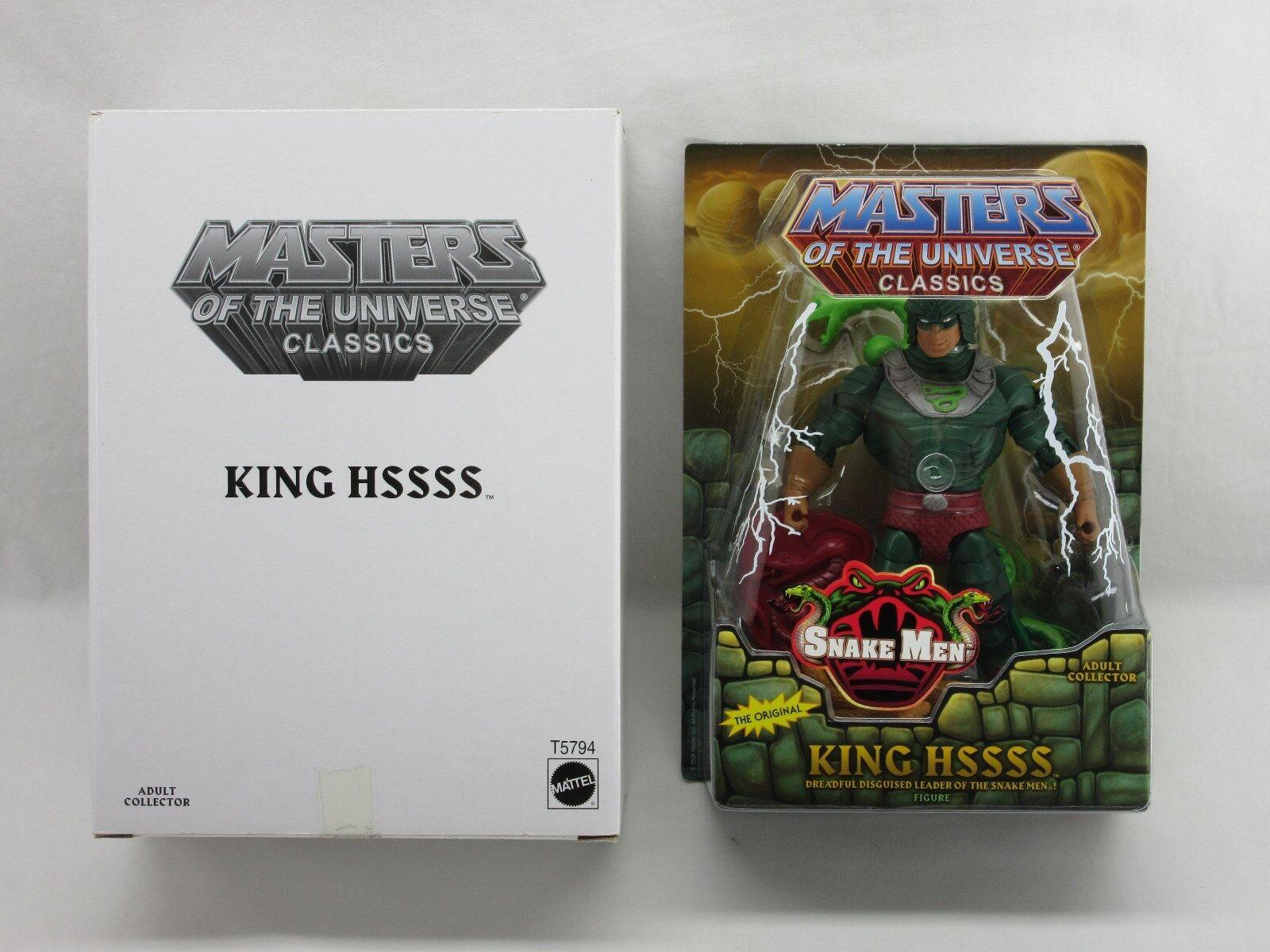 MOTUC Masters of the  Universe, King Hssss, Hiss, Masters of Universe Classics, He-homme, Scellé, Comme neuf on voitured  achats en ligne de sport
