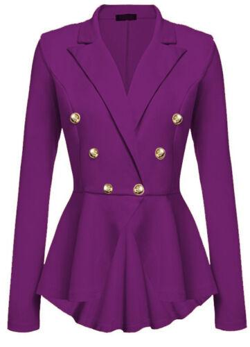 Women OL Work Office Formal Long Sleeve Slim Blazer Suit Jacket Coat Outwear Top