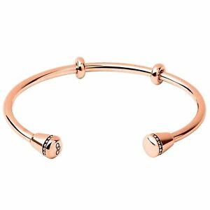 LINKS OF LONDON Ladies Amulet 925 Rose Gold Vermeil Cuff Bracelet M RRP290 NEW