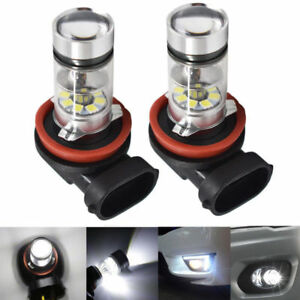 NEW-2X-H8-H9-H11-H16-6000K-White-100W-CREE-LED-Headlight-Bulbs-Kit-Fog-Light-DRL