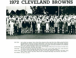 1972 CLEVELAND BROWNS TEAM 8x10 PHOTO KEN BROWN KELLY OHIO FOOTBALL